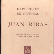 Varios objetos de Arte: JUAN RIBAS. SEPTIEMBRE 1950. GALERIAS AUGUSTA. BARCELONA.TARJETA.16'5 X 12'5 CMTRS.. Lote 36001420