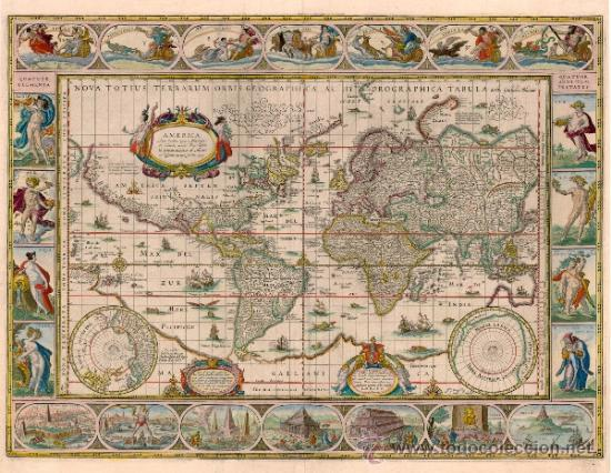 lamina mural gigante mapa antiguo mapamundi ter  Comprar en