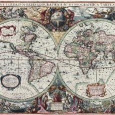 Varios objetos de Arte: LAMINA MAPA ANTIGUO: NOVA TOTIUS TERRARUM ORBIS 100 X 70 CM. EN PAPEL GRUESO (ALTA CALIDAD). Lote 106820892