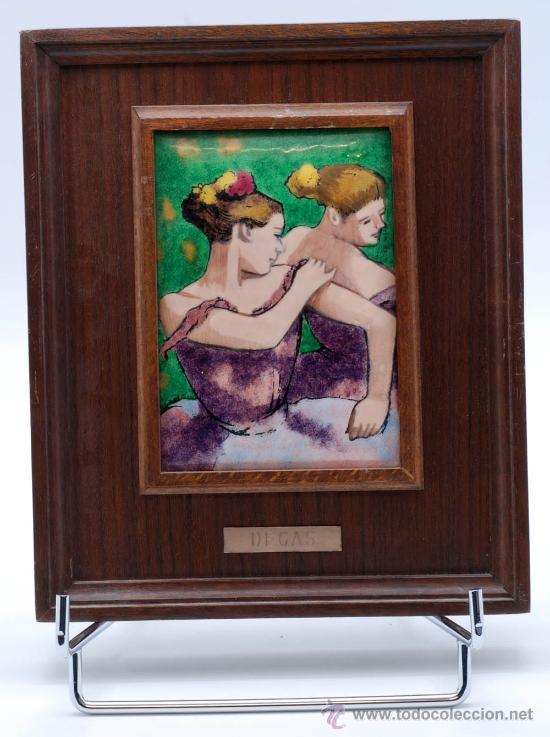 Usado, Esmalte reproducción óleo bailarina Degas Esmaltes Artísticos Nicolau Barcelona segunda mano