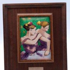 Varios objetos de Arte: ESMALTE REPRODUCCIÓN ÓLEO BAILARINA DEGAS ESMALTES ARTÍSTICOS NICOLAU BARCELONA. Lote 36368351