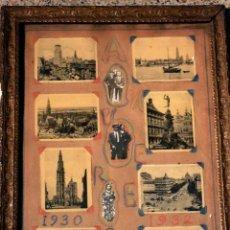 Varios objetos de Arte: CUADRO DE ANTIGUAS FOTOS DE AMBERES.AÑO 1930-32.. Lote 36792600