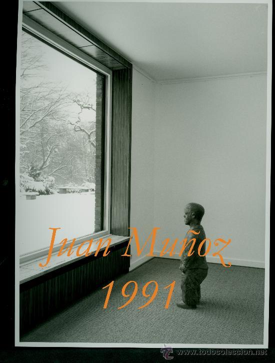 JUAN MUÑOZ - 1991 - FOTOGRAFIA DE LA EXPOSICIÓN (Arte - Varios Objetos de Arte)