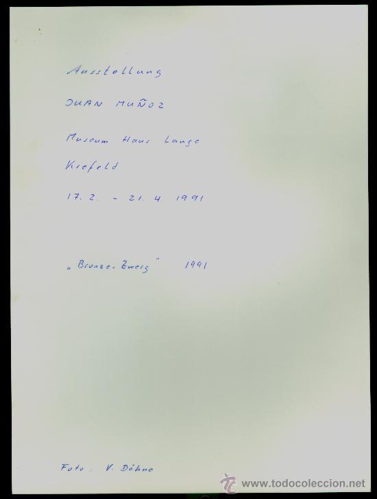 Varios objetos de Arte: JUAN MUÑOZ - 1991 - Fotografia de la Exposición - Foto 2 - 36639561