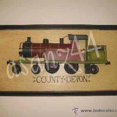 Varios objetos de Arte: CUADRO TREN EN RELIEVE METÁLICO CON MARCO. Lote 28456525