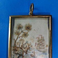 Varios objetos de Arte: PINTURA SOBRE MARFIL. Lote 37131440