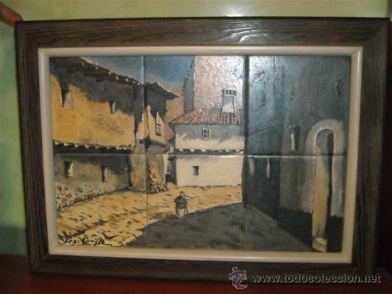 PESUDO (CASTELLON) PINTURA SOBRE AZULEJO (Arte - Varios Objetos de Arte)