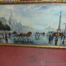 Varios objetos de Arte: PRECIOSO CUADRO DE TELA PINTADA DE CIUDAD - YOLANDA. Lote 37376161