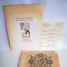 Varios objetos de Arte: SET 2 ANTIGUOS PAPIROS PAPIRO EGIPTO CON CERTIFICADO DE AUTENTICIDAD NEFERTARY PAPYRUS SIAG PYRAMIDS. Lote 37539081