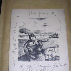 Varios objetos de Arte: MODEST CUIXART - J.V.FOIX , FELICITACION (NADALA ) FOIX 1953 DEDICATORIA AUTOGRAFA ORIGINAL A TINTA . Lote 37675736