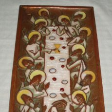 Varios objetos de Arte: ESMALTE LA SANTA CENA ANTIGUO MEDIDAS 26 X 13 CMS.. Lote 38023436