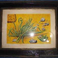 Varios objetos de Arte: CUADRO ACUARELA? FIRMADA FECHADA Y ENMARCADA, MARCO A RESTAURAR. Lote 38346520