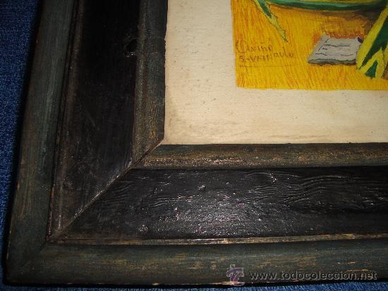 Varios objetos de Arte: CUADRO ACUARELA? FIRMADA FECHADA Y ENMARCADA, marco a restaurar - Foto 2 - 38346520
