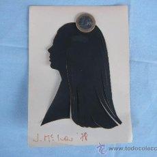 Varios objetos de Arte: SILUETA FEMENINA RECORTADA Y FIRMADA.. Lote 38671260