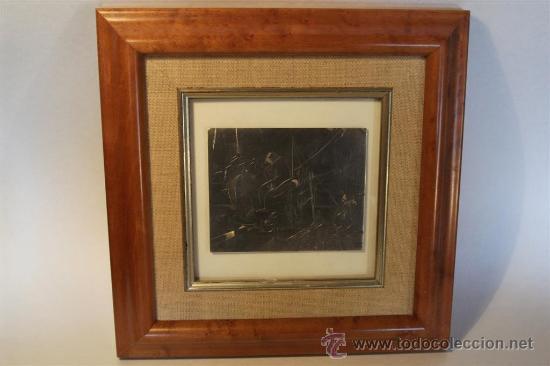 Varios objetos de Arte: Jordi Samsó Bastardas 1929 - 2008 (Barcelona) PESCADORES EN CADAQUÉS. Plata firmada - Foto 2 - 39049861