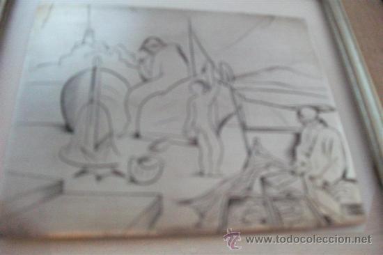 Varios objetos de Arte: Jordi Samsó Bastardas 1929 - 2008 (Barcelona) PESCADORES EN CADAQUÉS. Plata firmada - Foto 3 - 39049861