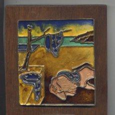 Varios objetos de Arte: CUADRO *EL RELOJ BLANDO* DE SALVADOR DALI - 15 X 12 CM. Lote 39157539