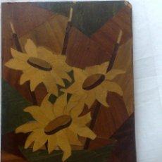 Varios objetos de Arte: ANTIGUO CUADRO DE MARQUETERÍA EN MADERA.. Lote 30855749