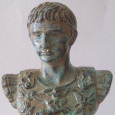Varios objetos de Arte: BUSTO DE BRONCE DE CÉSAR AUGUSTO. Lote 39488233