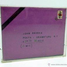 Varios objetos de Arte: AMÈLIA RIERA, ESCULTURA DEDICADA A JOAN BROSSA, VER REVERSO. 15X19 CM.. Lote 39734646