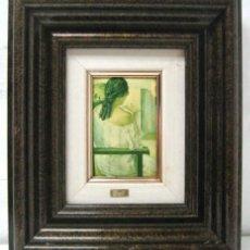 Varios objetos de Arte: SALVADOR DALI - ESMALTE SOBRE METAL - ENMARCADO. Lote 39809890