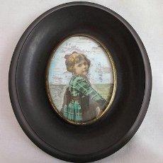 Varios objetos de Arte: MARQUITO OVAL DE BAQUELITA ANTIGUO. Lote 39829855