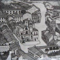 Varios objetos de Arte: CUADRO DE PUEBLO FIRMADO. Lote 40049889