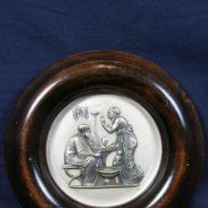 Varios objetos de Arte: TONDO METAL TROQUELADO PLATEADO DOS TONOS SIGUIENDO MODELO ESCULTOR BERTEL THORVALDSEN LAS ESTACIONE. Lote 40081829