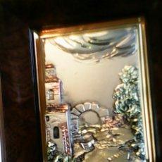 Varios objetos de Arte: PRECIOSO CUADRO DE MADERA HECHO CON HOJA DE ORO 24K Y PLATA 925MM,TIENE EL CERTIFICADO DETRÁS.. Lote 40208196