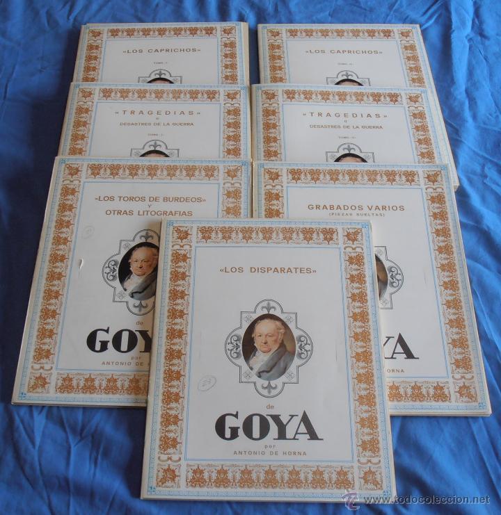 OBRAS DE GOYA, POR ANTONIO DE HORNA (Arte - Varios Objetos de Arte)