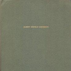 Varios objetos de Arte: ALBERT RÀFOLSCASAMADA CARPETILLA 1974 CON 17 OBJETOS PERSONALES ORIGINALES DIBUIXOS CARTES CALENDARI. Lote 40758330