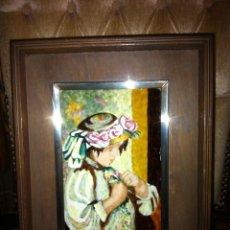 Varios objetos de Arte: ANTIGUO CUADRO ESMALTE Y PLATA J REYNOLDS. Lote 40851420