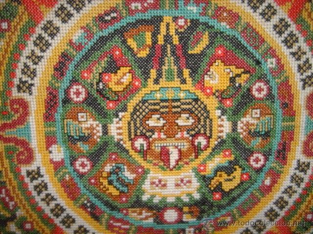 Calendario Azteca Bordado A Color Y Enmarcado Buy Other Objects