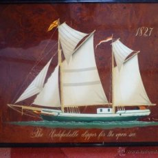 Varios objetos de Arte: PRECIOSO CUADRO BARCO SOBRE MADERA. Lote 41133281