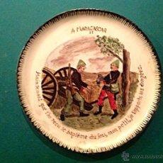 Varios objetos de Arte: PLATOS DE PORCELANA ARTESANAL PINTADOS AL ÓLEO / FIRMADOS C. BORRÀS 97. Lote 41529328