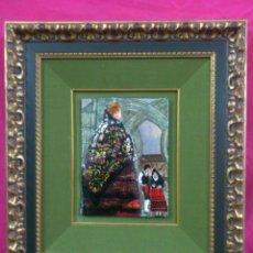 Varios objetos de Arte: CUADRO ESMALTE FIRMADO PRAXEDES. Lote 41630582