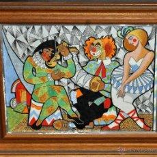 Varios objetos de Arte: ESMALTE DE TEMA CIRSENCE DE APROXIMADAMENTE AÑOS 60. Lote 41733254