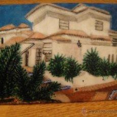 Varios objetos de Arte: ESMALTE AL FUEGO SOBRE PLACA DE COBRE - AUTOR PRAXEDES. Lote 42188124
