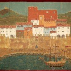 Varios objetos de Arte: JORDI AGUADE CLOS (BARCELONA, 1925) GRAN PLAFÓN DE AZULEJOS DE GRES. 82 CM X 101 CM. Lote 42323681
