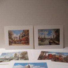 Varios objetos de Arte: LOTE 5 LAMINAS PARIS. Lote 42349562