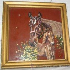 Varios objetos de Arte: PINTURA EN AZULEJO ENMARCADA. Lote 42915264