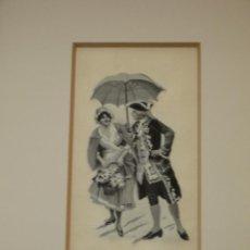 Varios objetos de Arte: BORDADO ESCENA GALANTE DE ÉPOCA. Lote 42961915