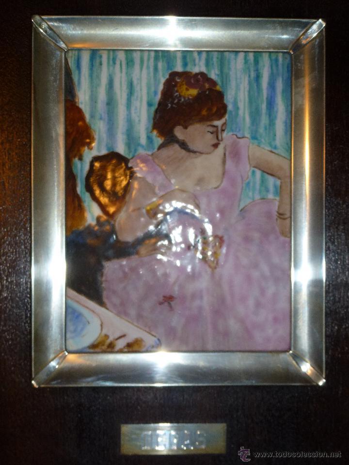 Varios objetos de Arte: Cuadro en madera con esmalte y plata - Foto 3 - 42969826