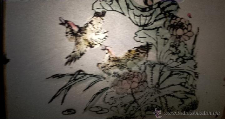 magnifica pintura aves en cristal ,con marco me - Comprar en ...