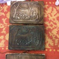 Varios objetos de Arte: 3 PLACAS DE ESTUCO CON ESCENAS MITOLOGICAS. Lote 43280876