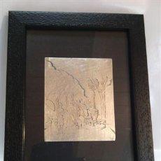 Varios objetos de Arte: JORDI SAMSÓ BASTARDAS 1929 - 2008 (BARCELONA). RAMBLA Y CANALETAS, PLATA DE LEY FIRMADA.. Lote 39049830