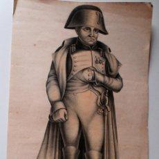 Varios objetos de Arte: RARISIMO RETRATO DE NAPOLEON. DESCONOZCO TECNICA. Lote 43454952