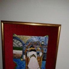 Varios objetos de Arte: ESMALTE MODERNISTA CON MARCO DORADO. Lote 43495438