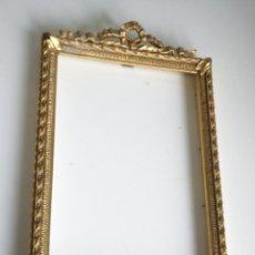 Varios objetos de Arte: PRECIOSA Y ANTIGUO MARCO PARA CUADRO HECHA DE MADERA Y ESCAYOLA PINDADA ORO 24K DOSA NAOS 1918,192. Lote 43519867
