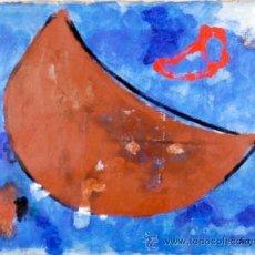 """Varios objetos de Arte: RODRÍGUEZ DUFLÚS LUNA II"""", 1992 ACRÍLICO Y COLLAGE SOBRE PAPEL FIRMADO Y FECHADO. Lote 43555060"""